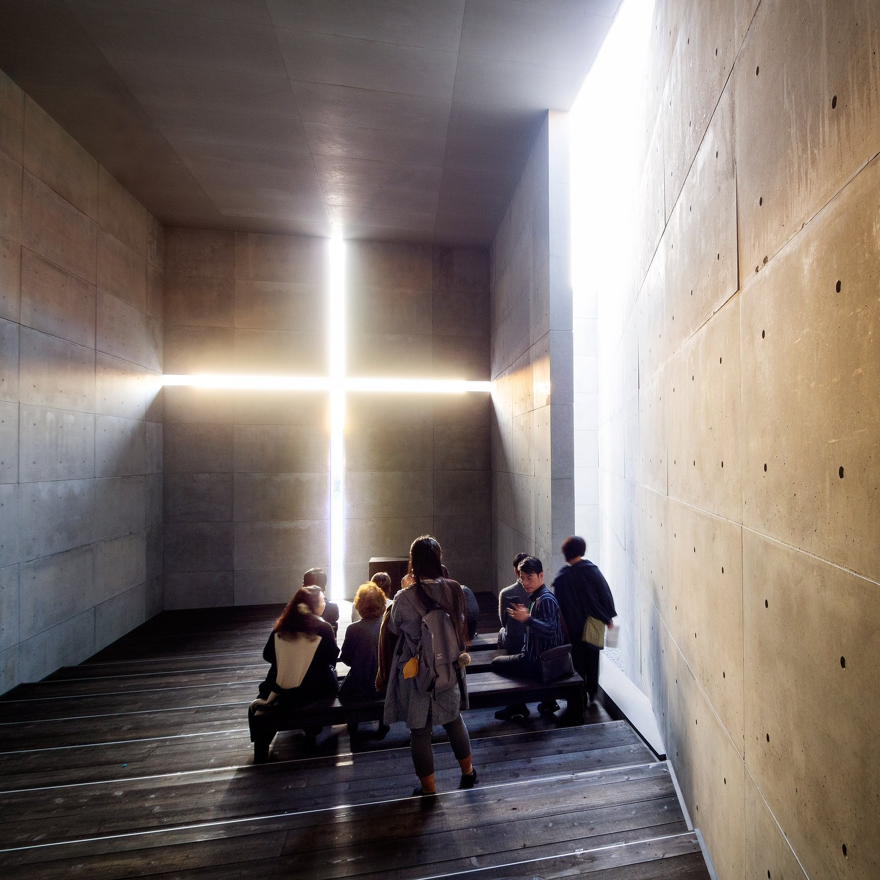 Full-scale model of Church of the Light, National Art Center, Tokyo Architect Tadao Ando