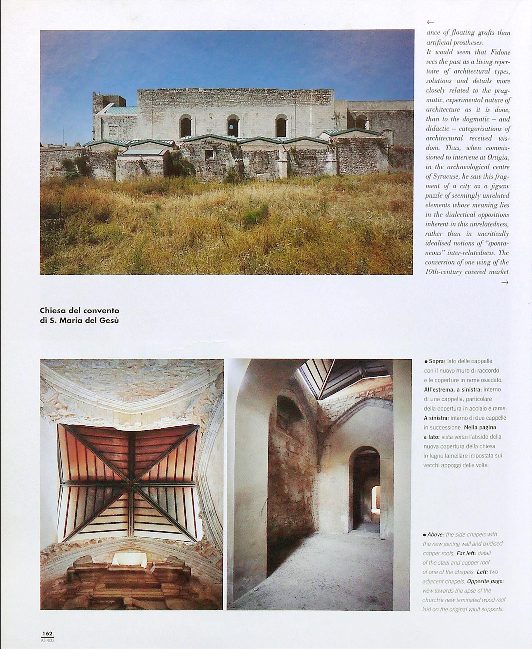 Abitare 400. Arch. Bruno Messina, Emanuele Fidone - S.M. del Gesù, Modica