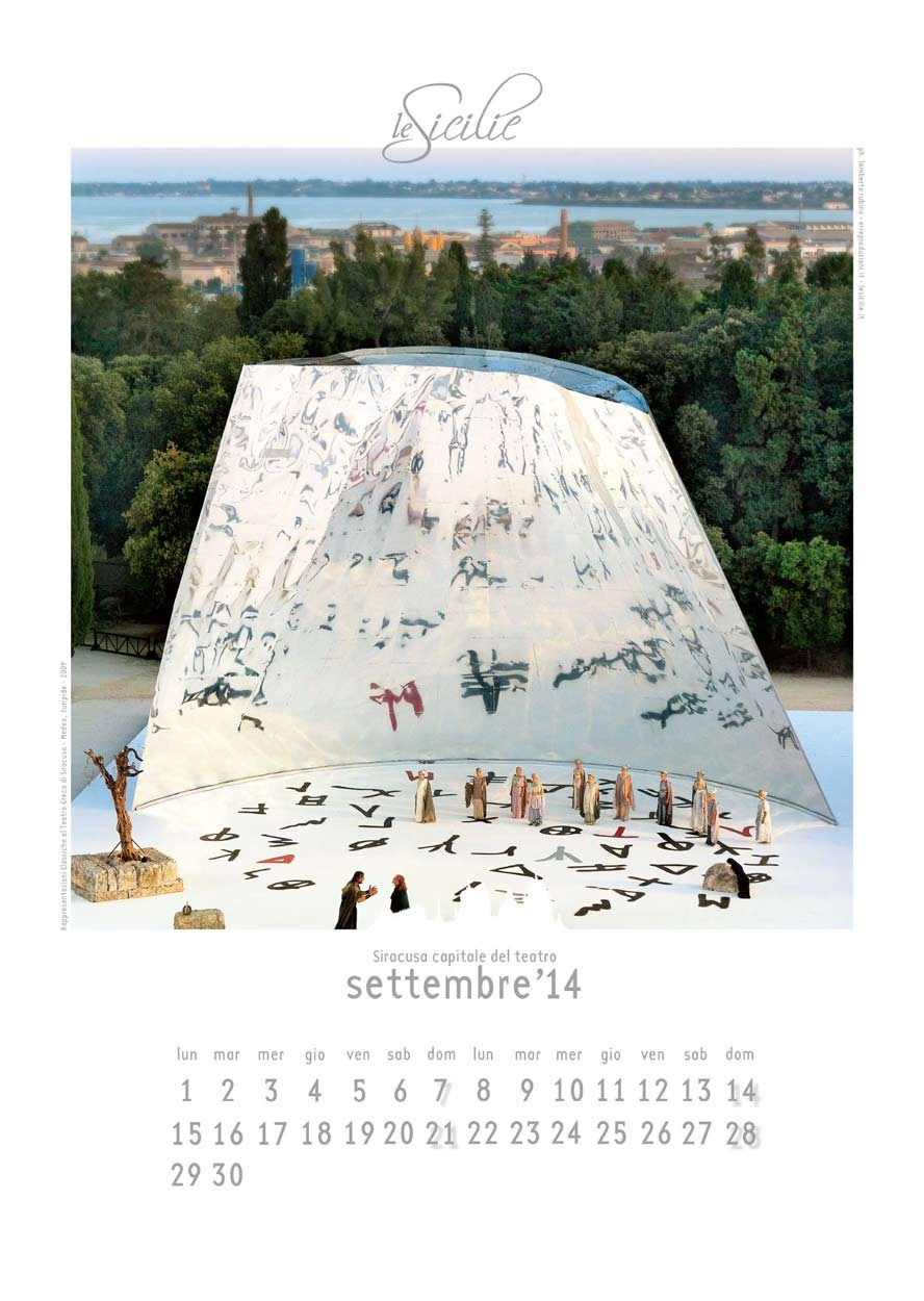 Siracusa Capitale del teatro - art calendar 2014