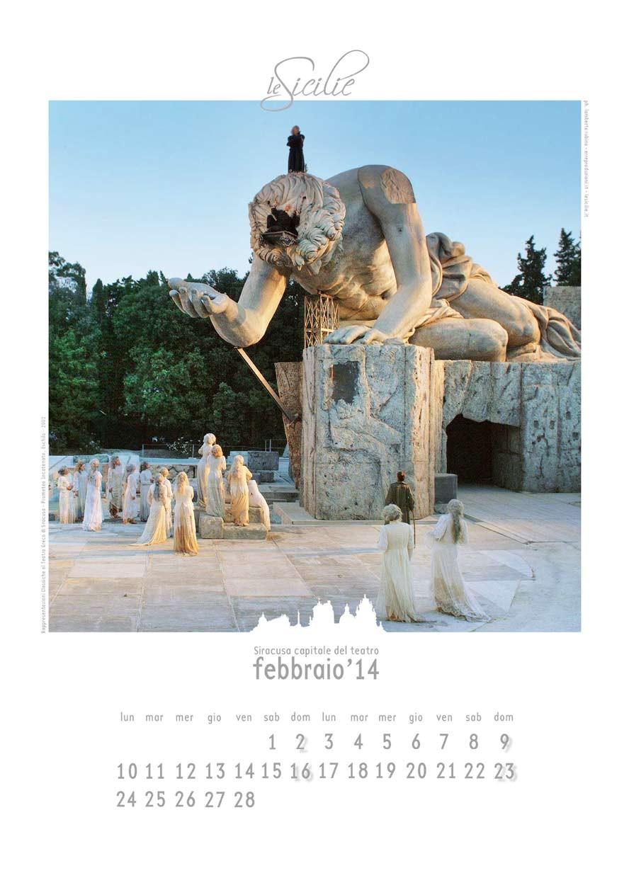 Siracusa Capitale del teatro - art calendar 2014/15