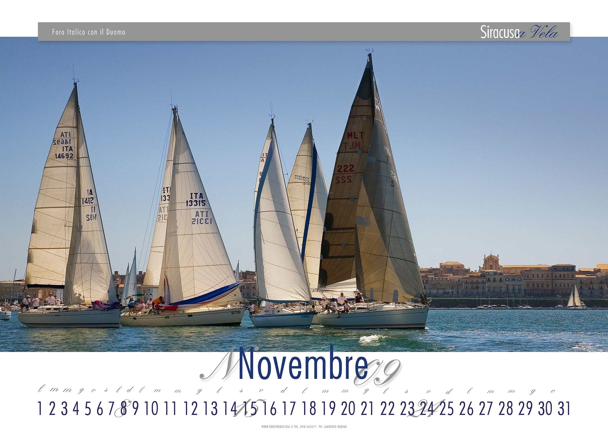 Siracusa a vela - art calendar 2009